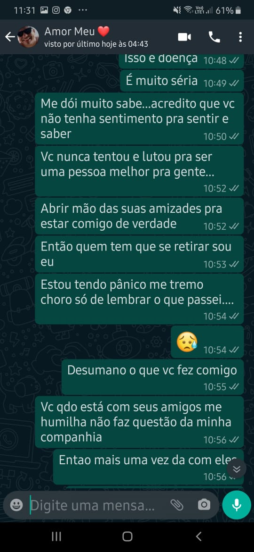 Mensagens da vítima para Bonfim descrevem relacionamento abusivo