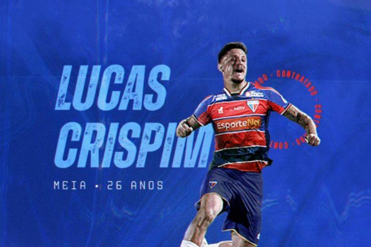Lucas Crispim acertou contrato com o Fortaleza até o final de 2022.  (Foto: Fortaleza EC)