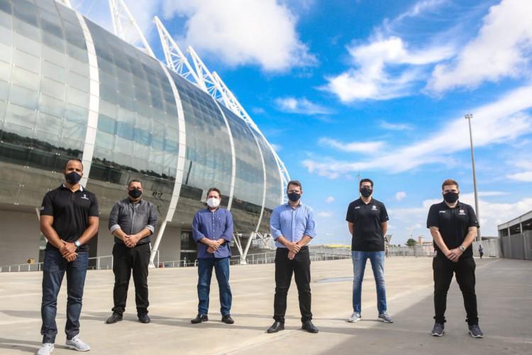 Arena Castelão passa por inspeção da Conmebol (Foto: Divugação / SEJUV)