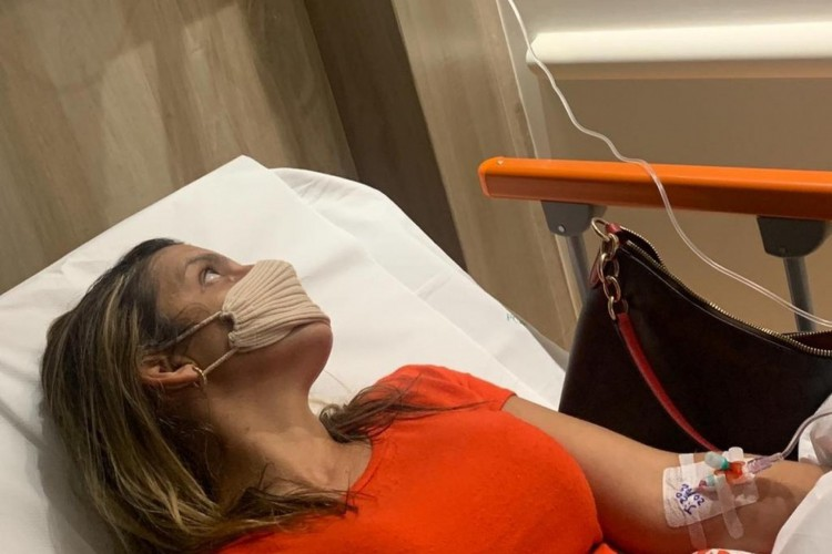 Flávia Andrade, 36 anos, foi internada em um quarto no Hospital Português, no Recife (Foto: Reprodução/ G1)