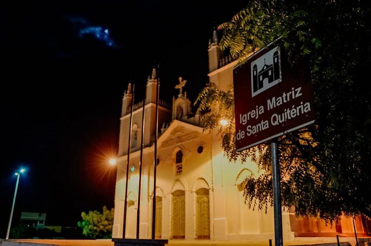 Santa Quitéria em 25 de fevereiro de 2020, Movimentacao no centro de Santa Quitéria, onde o lockdown foi decretado