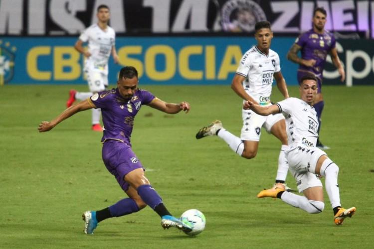 Lima, meia-atacante do Ceará, em partida contra o Botafogo, pela última rodada do Brasileirão 2020 (Foto: Fábio Lima/O POVO)