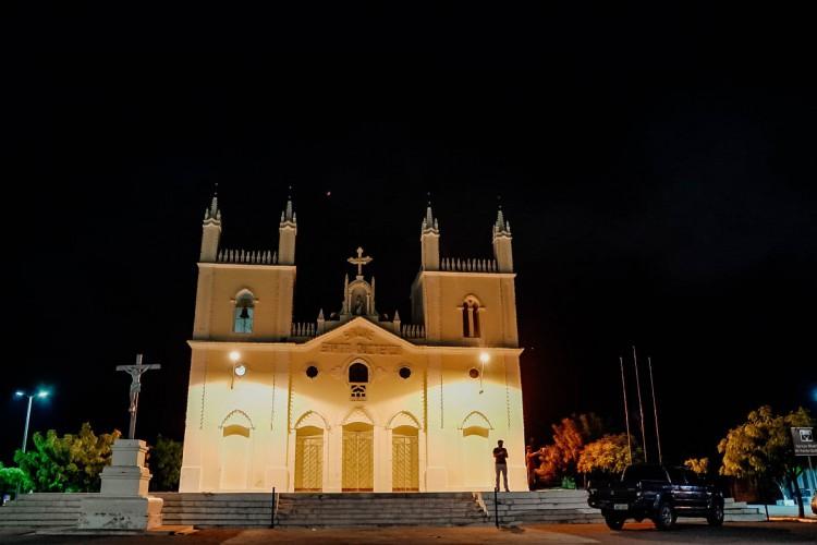 Santa Quiteria em 25 de fevereiro de 2020, Movimentacao no centro de santa quiteria, aonde o lockdown foi decretado na cidade. (Foto Julio Caesar/O Povo) (Foto: JULIO CAESAR)