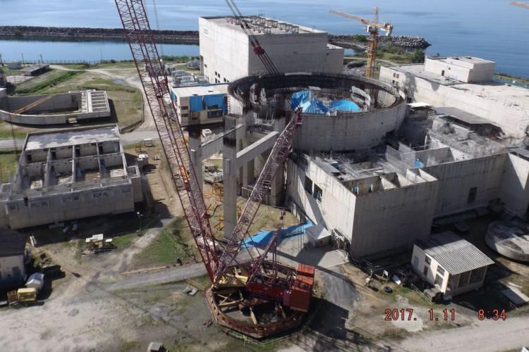 Obras da Usina nuclear de Angra 3 (Foto: Divulgação PAC)