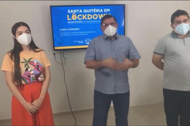 Gestão municipal de Santa Quitéria anuncia o decreto de lockdown para a região (Foto: Reprodução/ Facebook)