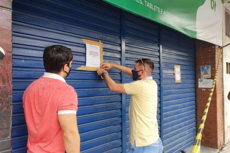 Estabelecimento foi fechado por determinação do Poder Judiciário (Foto: Reprodução/SSPDS)