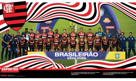 Pôster do Flamengo, campeão do Brasileirão 2020