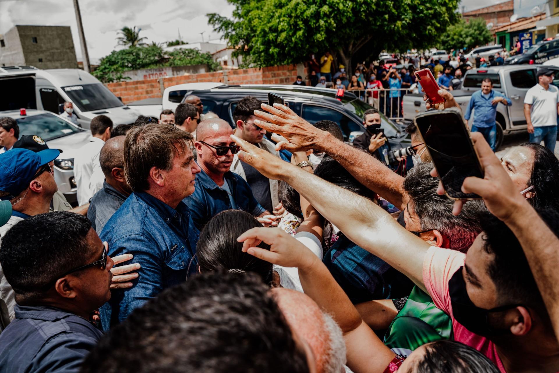 Presidente Jair Bolsonaro durante visita a Tianguá