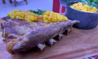 Costelinha de porco foi receita apresentada hoje (01/03) no Mais Você por Ana Maria Braga