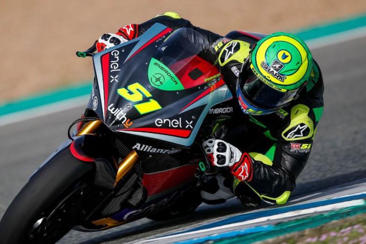 Eric Granado acelera forte nos testes do Mundial de Moto-E (Foto: )