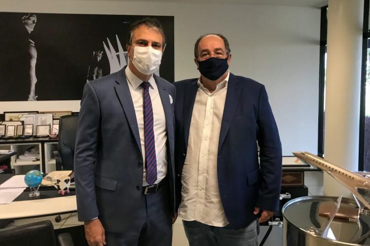 Em Brasília, Camilo se reúne com presidente da União Química para negociar vacina Sputnik (Foto: Foto: Divulgação/Twitter)