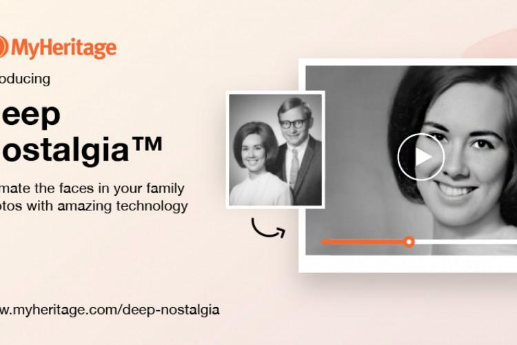 Ferramenta online Deep Nostalgia, do site de genealogia MyHeritage, promete