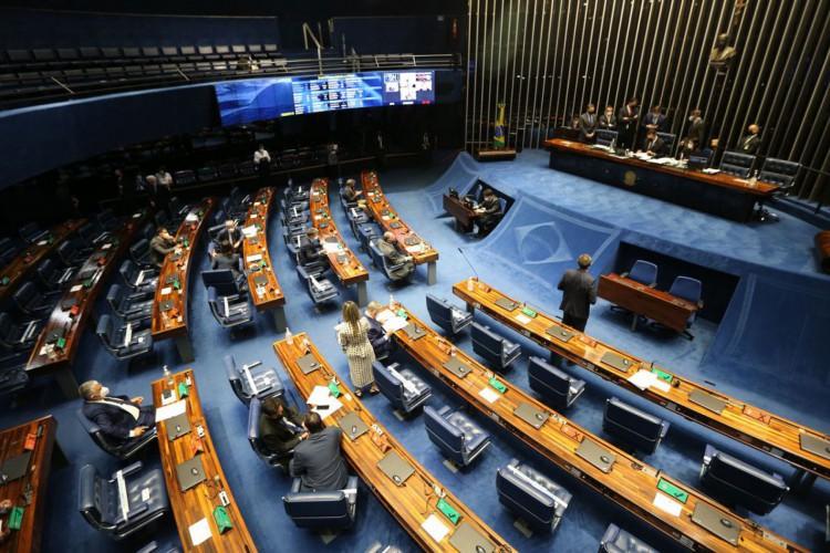 Plenário do Senado Federal durante sessão deliberativa ordinária semipresencial. (Foto: Fabio Rodrigues PozzebomAgência Brasil)
