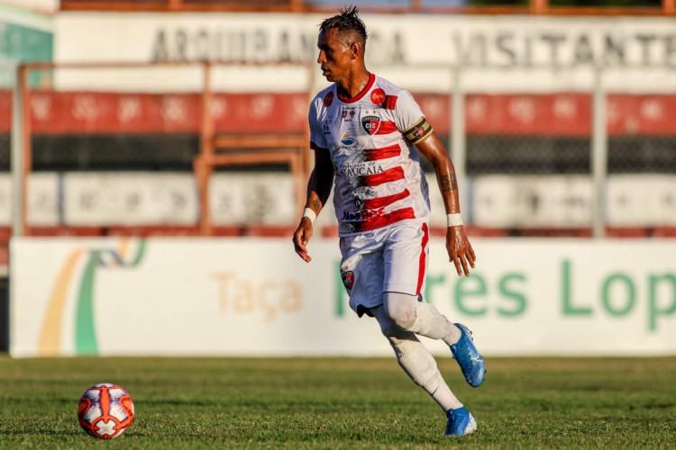 Ciel foi o autor de um dos gols do Caucaia.  (Foto: Pedro Chaves / FCF)