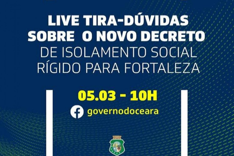 Fortaleza retorna ao sistema de lockdown devido ao significativo aumento no número de contágios por coronavírus (Foto: Governo do Estado do Ceará / Reprodução)