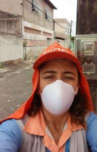 Silvia é uma das 8 mulheres que desempenham o serviço de leiturista na capital