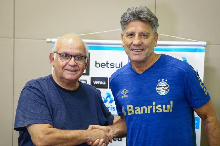 Grêmio confirma renovação com Renato Portaluppi para 2021 (Foto: Lucas Uebel)