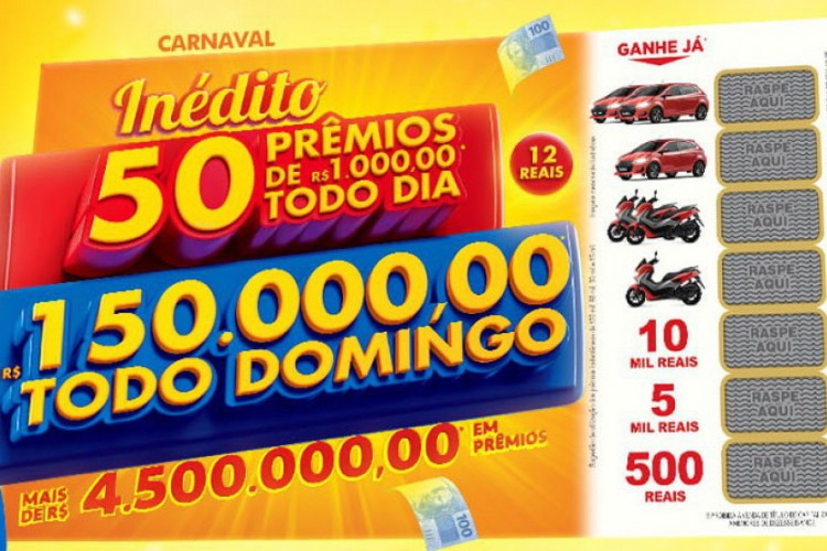 O terceiro sorteio da Tele Sena especial de Carnaval 2021 será realizado na noite de hoje, domingo, 7 de março (07/03), às 20 horas, pelo SBT (Foto: Divulgação/SBT)