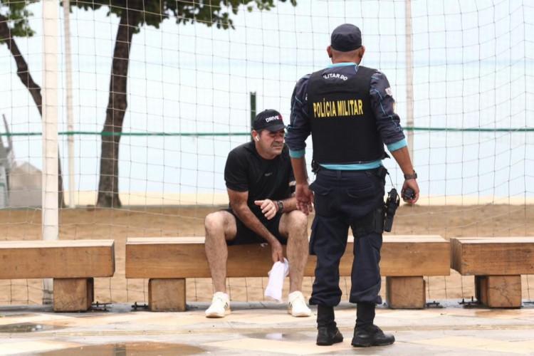 Primeiro dia de lockdown na cidade de Fortaleza (Foto: Fábio Lima/ O POVO)