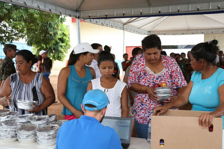 Boa Vista (RR) - Acampamento de refugiados venezuelanos montado pelo Exército Brasileiro e a Agência das Nações Unidas para Refugiados (Antonio Cruz/Agência Brasil) (Foto: Antonio Cruz/Agência Brasi)