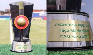 Taça Maria Vieira é dada ao time campeão do Campeonato Cearense Feminino.