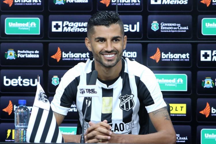 Jorginho foi apresentado por meio de coletiva virtual nesta segunda-feira, 8.  (Foto: Marcelo Vidal/ Ceará SC)