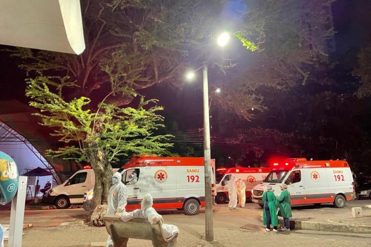 Aumento de internações de pacientes com Covid-19 gera fila de ambulâncias no HGF (Foto: (Foto: arquivo pessoal))