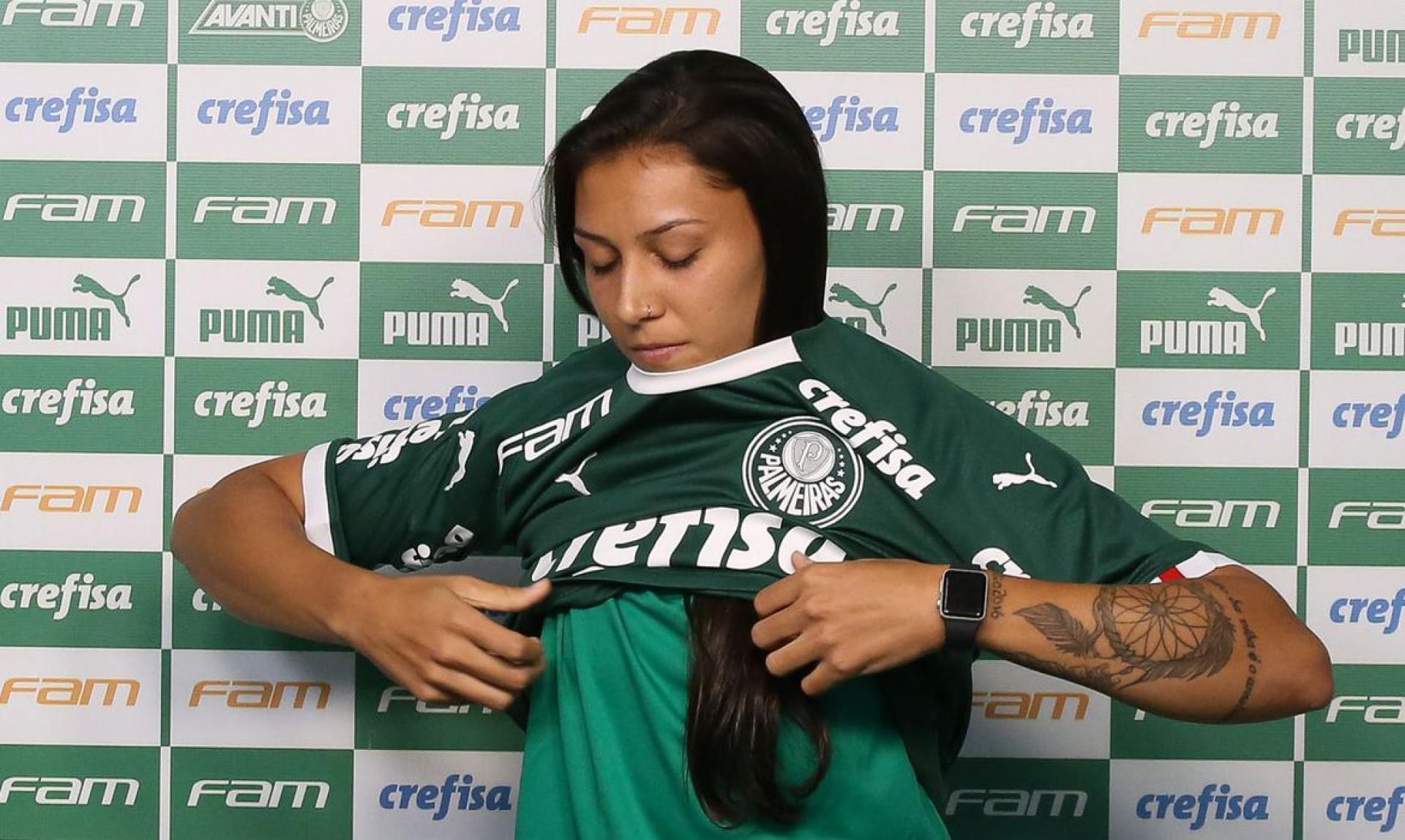 Artilheira da Série A1, Bia Zaneratto não volta ao Palmeiras após a Olimpíada (Foto: Fabio Menotti / Ag. Palmeiras)