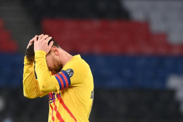 PSG e Barcelona ficaram no empate em 1 a 1, e os franceses avançaram de fase (Foto: FRANCK FIFE / AFP)