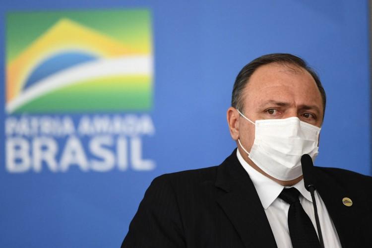 Neste domingo, 14, rumores da saída de Pazuello do Ministério da Saúde tomaram conta da agenda política. (Foto: EVARISTO SA / AFP)