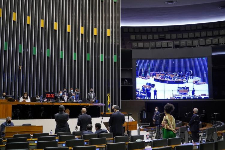 Câmara dos Deputados aprovou em 1º turno a PEC que cria condições fiscais para volta do auxílio emergencial (Foto: Pablo Valadares/Câmara dos Deputados)