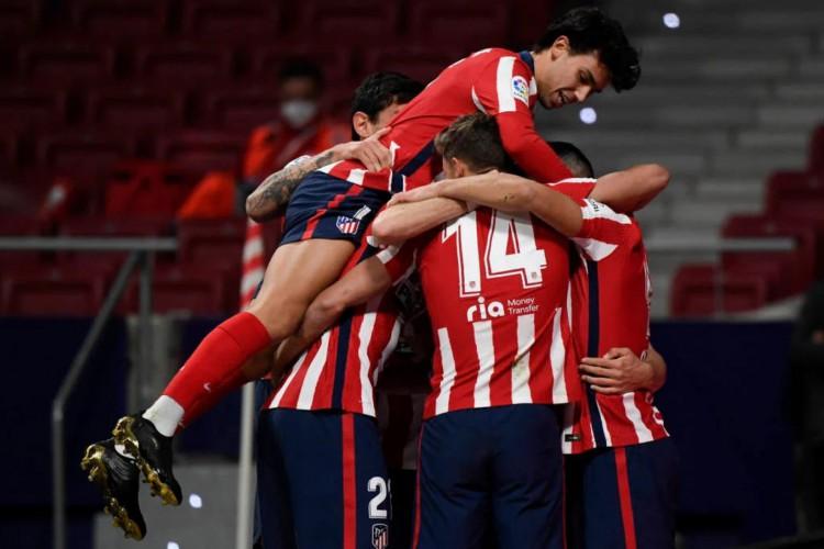 Atlético de Madrid venceu o Athletic Club por 2 a 1, de virada, no Wanda Metropolitano (Foto: Gabriel Bouts / AFP)