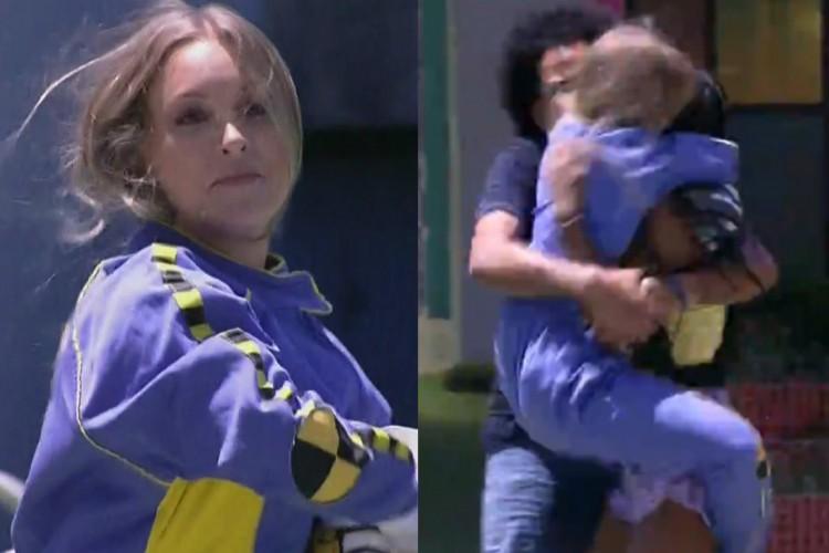 Os brothers João, Camila, Pocah e Juliette correram para abraçar a sister (Foto: Reprodução/Globoplay)