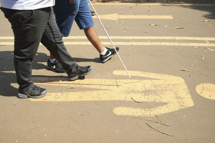 A 1ª Caminhada Nacional da Luta dos Direitos das Pessoas com Deficiência no Parque da Cidade, em Brasília (Foto: Marcello Casal JrAgência Brasil)