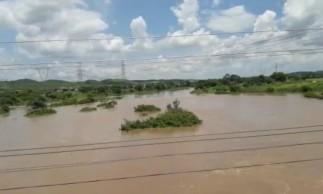 Rio Salgado apresenta aumento em seu fluxo de água nesta segunda-feira, 15