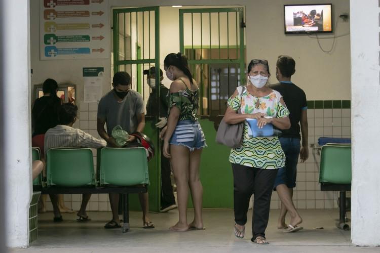 Movimentação no Hospital Distrital Gonzaga Mota, no José Walter, em época de Covid-19 (Foto: Aurelio Alves)