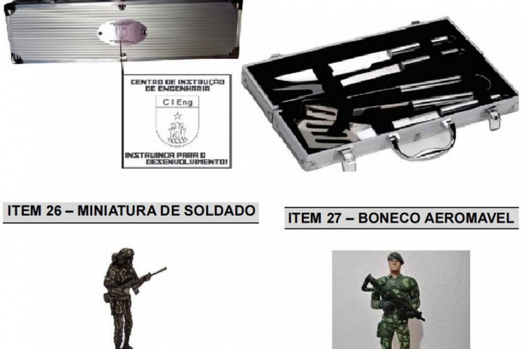 Os itens faziam parte de licitação cancelada por batalhão do Exército de Araguari, em Minas Gerais. (Foto: Reprodução)