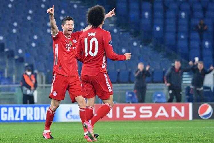 Nos destaques desta quarta-feira, 17, está o jogo de volta entre Bayern e Lazio pela Liga dos Campeões  (Foto: Alberto PIZZOLI / AFP)