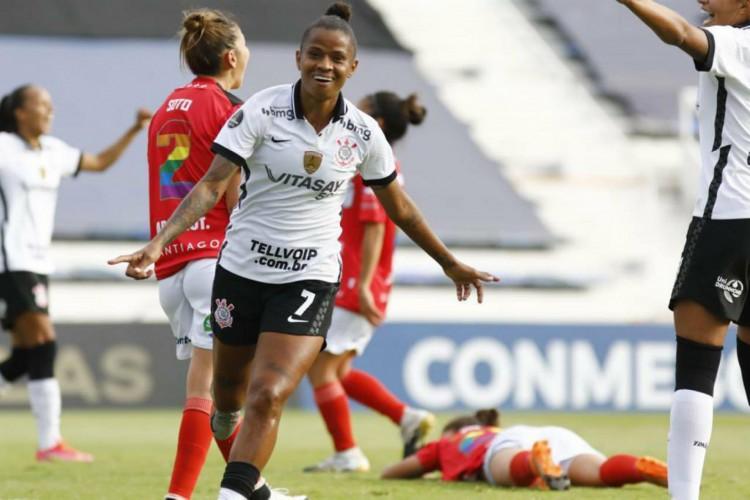 O Corinthians aplicou mais uma goleada na Conmebol Libertadores e a nova vitima foi o Santiago Morning por 7 a 0 (Foto: Rodrigo Gazzanel / Corinthians)