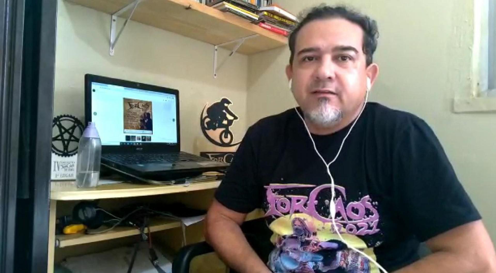 Amaudson Ximenes, fundador da Associação Cultural Cearense do Rock, guitarrista e fundador da banda Obskure