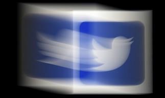 Ilustração de foto de arquivo, um logotipo do Twitter
