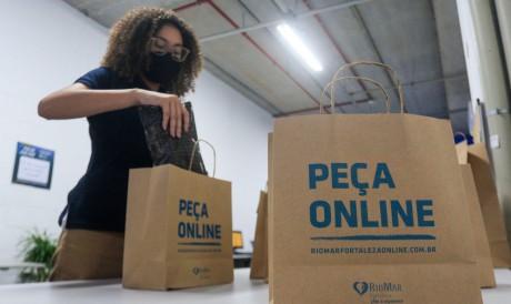 Delivery: fundamental na pandemia. (BARBARA MOIRA/ O POVO