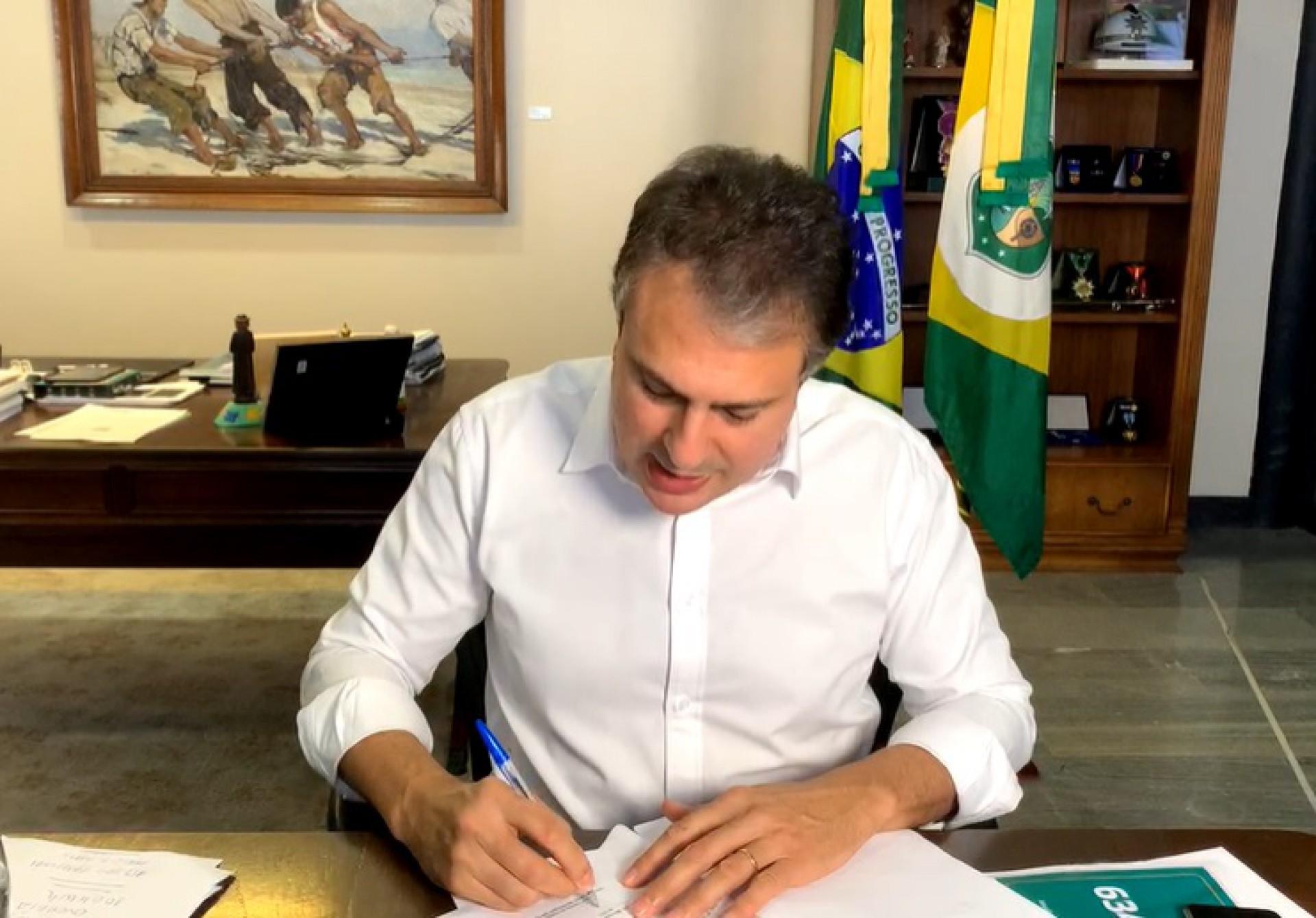 Governador quer avaliar como anda sua gestão junto aos aliados (Foto: REPRODUÇÃO/VÍDEO)