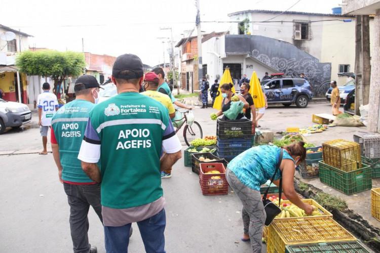 A realização desse tipo de comércio livre ainda não está permitida na capital cearense. (Foto: Thiago Gaspar/ PMF)