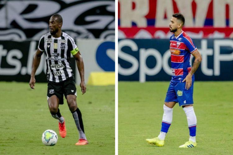 Luiz Otávio é quem mais disputou Clássico-Rei pelo Ceará, enquanto Felipe é o representante do Fortaleza com mais tempo em campo neste embate (Foto: AURÉLIO ALVES/O POVO)