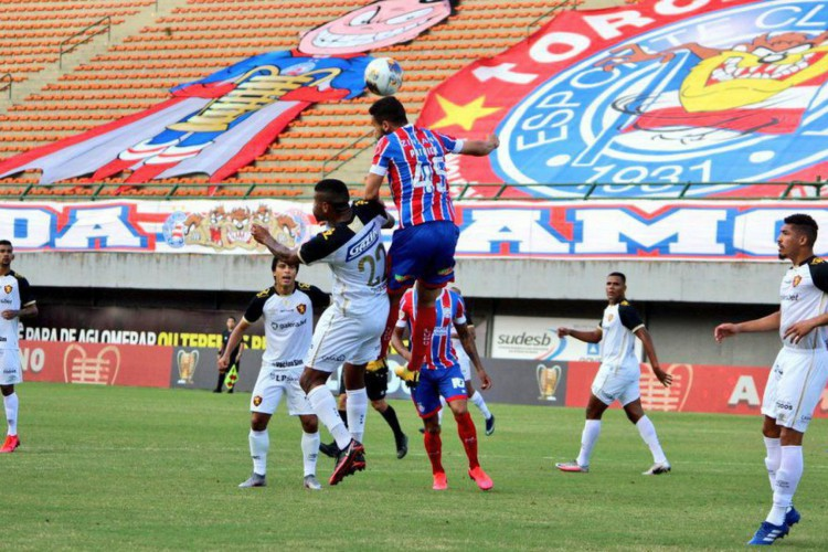 Lance de Bahia 4 x 0 Sport, jogo disputado neste sábado, 20, válido pela quarta rodada da Copa do Nordeste 2021 (Foto: Vitor Tamar/Divulgação/EC Bahia)