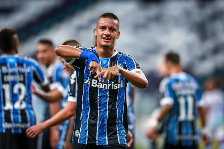 Grêmio venceu o Aimoré por 2 a 0 pelo Campeonato Gaúcho (Foto: Lucas Uebel/Gremio FBPA)
