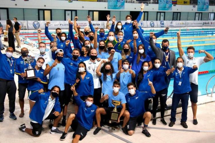 Sul-Americano de Esportes Aquáticos: Brasil encerra liderando natação (Foto: )