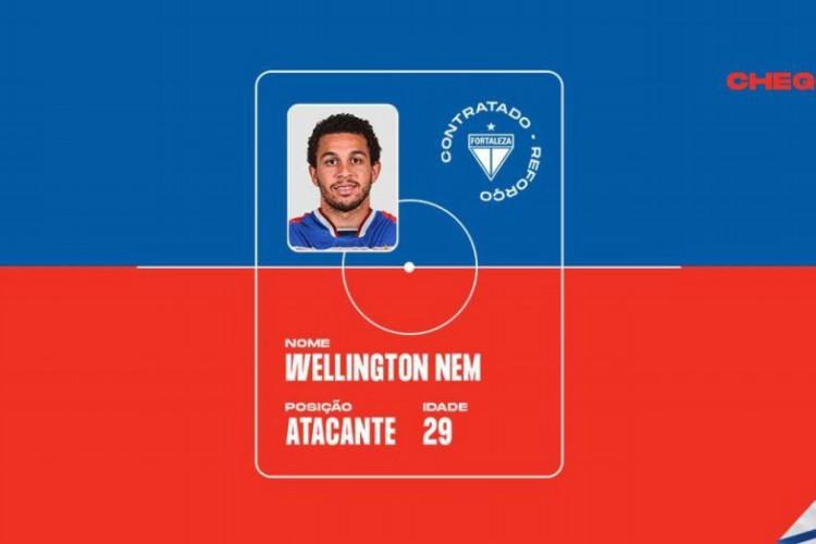 Wellington Nem chega o Fortaleza e fica até o fim da temporada 2021 (Foto: Divulgação/Fortaleza EC)