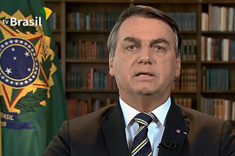 Pronunciamento do presidente Jair Bolsonaro (Foto: TV Brasil)